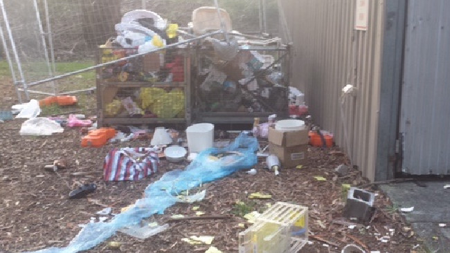 Vandals ransack the premises of a much-loved charity