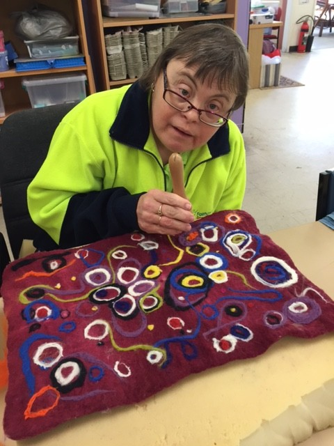 supported employment, upcycle felting