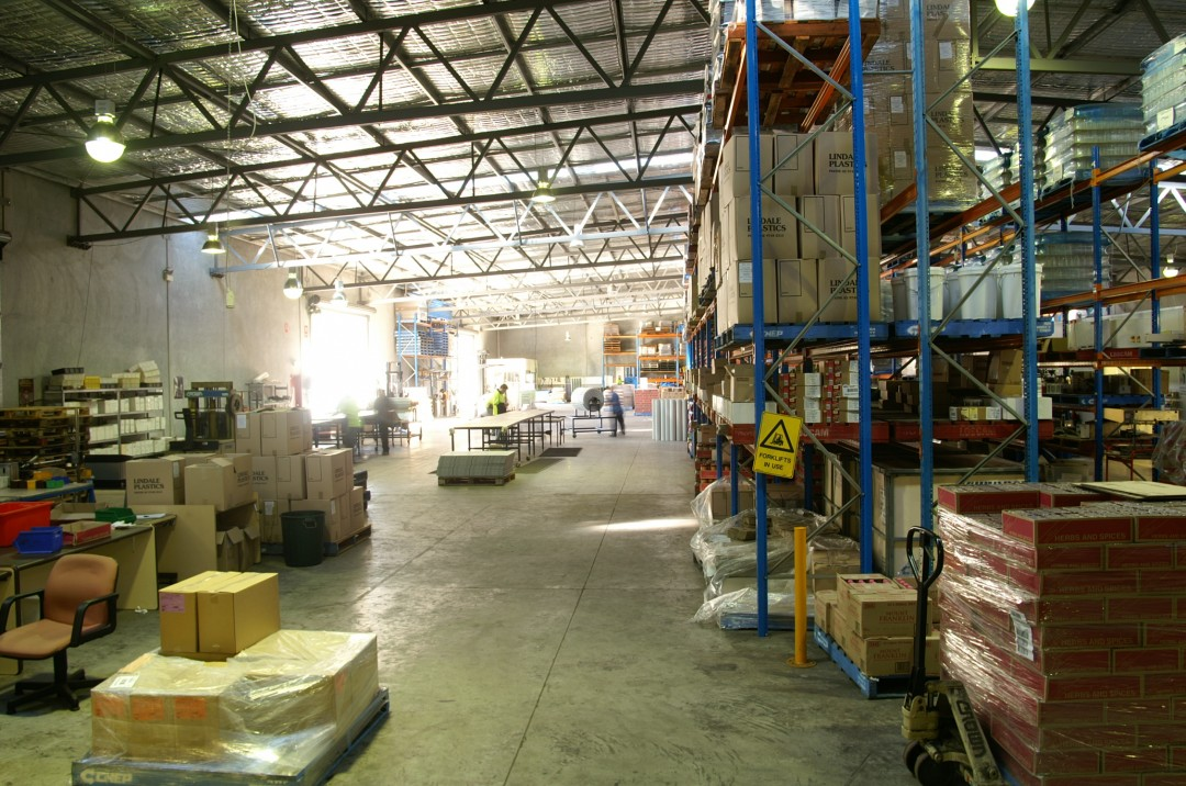 Our massive warehouse and storage facility at Pacific CoPack Tuggerah
