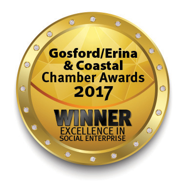 Vintage Fair is a Winner for Excellence in Social Enterprise. Gosford/Erina & Coastal Chamber Awards 2017
